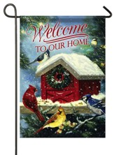 Welcome To Our Home, Christmas Songbirds, Flag, Small