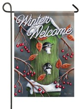 Winter Welcome, Chickadees, Flag, Small