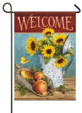 Welcome, Sunflowers and Pears, Flag, Small