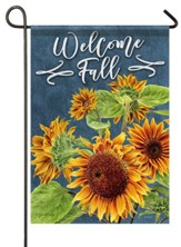 Welcome Fall, Beautiful Sunflowers, Flag, Small