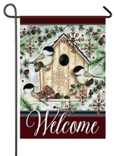 Welcome, Chilly Chickadees, Flag, Small
