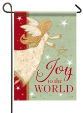 Joy To the World, Glitter Angel, Flag, Small