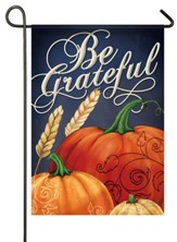 Be Grateful, Pumpkins, Flag, Small