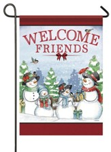 Welcome Friends, Snow Family, Flag, Small