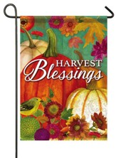 Harvest Blessings, Pumpkin, Flag, Small