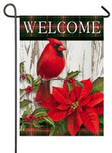 Welcome, Sweet Cardinal Christmas, Flag, Small