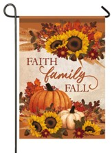 Faith Family Fall Flag, Small