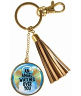 An Angel Watches Over You Keyring with Tassel