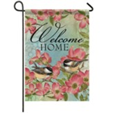 Dogwood Chickadee Garden Flag, Small