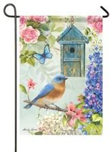 Bluebird Birdsong Flag, Small