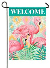 Welcome, Flamingos, Palms, Flag, Small