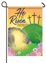He Is Risen, Indeed, Empty Tomb, Flag, Small