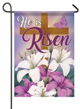 He Is Risen, Lilies and Cross, Flag, Small