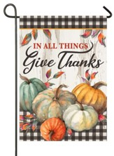 In All Things Give Thanks Flag, Small