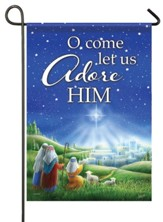O Come Let Us Adore Him Flag, Small