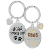 Paws To Enjoy Life Keyring