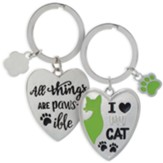 I Love My Cat Keyring