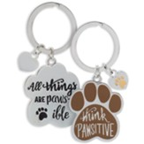 Think Pawsitive Keyring