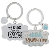 My Kids Have Paws Keyring