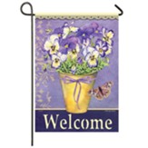 Happy Pansies Garden Flag, Small