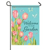 Tulips And Butterflies Garden Flag, Small