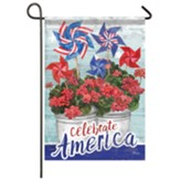 Patriotic Geranium Garden Flag, Small