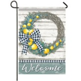 Lemon Wreath Garden Flag, Small