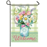 Freshm Mason Jar Garden Flag, Small