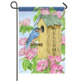Dogwood Birdhouse Garden Flag, Small