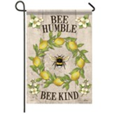 Bee Lemon Wreath Garden Flag, Small