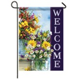 Spring Mix Vases Garden Flag, Small
