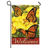 Bright Monarchs Garden Flag, Small