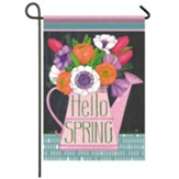 Watering Can Floral Garden Flag, Small