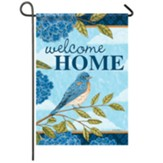 Hydrangea Blue Bird Garden Flag, Small