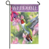 Hummingbird And Fuchsia Garden Flag, Small