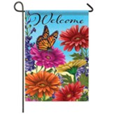 Monarch And Gerberas Garden Flag, Small