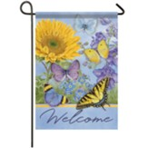 Sunflower Butterflies Garden Flag, Small