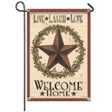 Primitive Star Garden Flag, Small