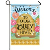 Busy Hive Garden Flag, Small