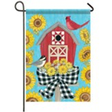 Barn Birdhouse Garden Flag, Small