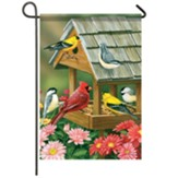 Feeder Meeting Garden Flag, Small