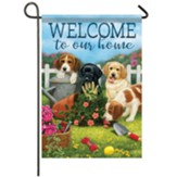 Puppy Welcome Garden Flag, Small
