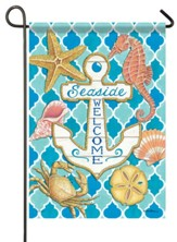 Seaside Anchor Garden Flag, Small
