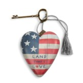 Land That I Love, American Flag, Art Heart