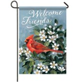 Welcome Cardinal Garden Flag, Small