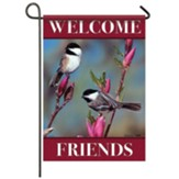 Chickadee Floral Garden Flag, Small