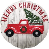 Merry Christmas Truck Stepping Stone