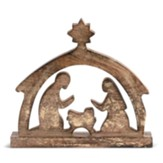 Nativity Scene Figure, Gold Wood