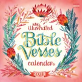 2019 The Illustrated Bible Verses Wall Calendar