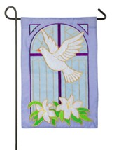 Dove on Cross Applique Flag, Small